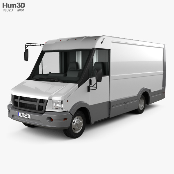 3D model of Isuzu Reach Van 2011