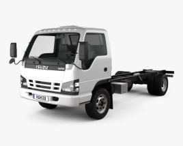 3D model of Isuzu NPR Chassis 2011