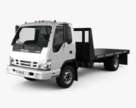 3D model of Isuzu NPR Flatbed 2011