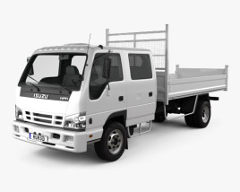 3D model of Isuzu NPR Tipper Van Truck 2011