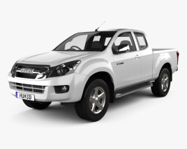 3D model of Isuzu D-Max Extended Cab 2012