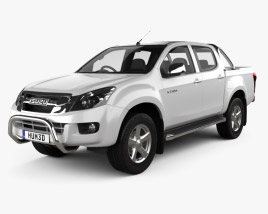3D model of Isuzu D-Max Double Cab 2012