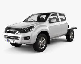 3D model of Isuzu D-Max Double Cab Chassis 2012