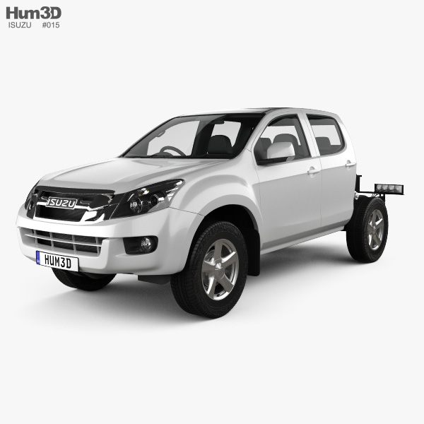 Isuzu D-Max Double Cab Chassis 2012 3D model