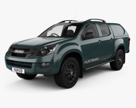 3D model of Isuzu D-Max Double Cab Huntsman 2014