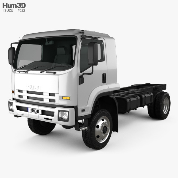 Isuzu FTS 800 Single Cab Chassis Truck 2014 3D model