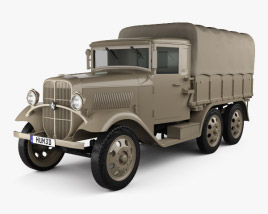 3D model of Isuzu Type 94 Truck 1934
