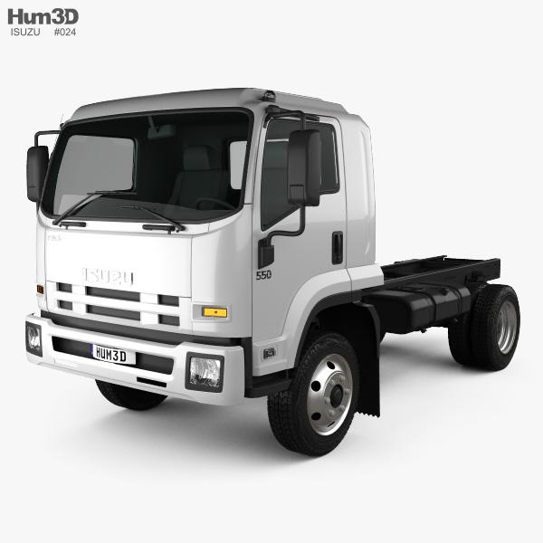 Isuzu FSS 550 Single Cab Chassis Truck 2015 3D model