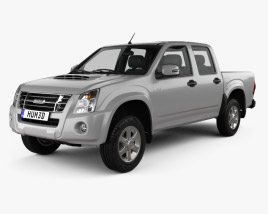 3D model of Isuzu D-Max Double Cab 2006