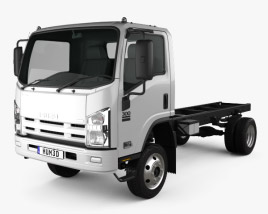 3D model of Isuzu NPS 300 Chassis Truck 2015