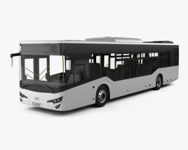 3D model of Isuzu Citiport Bus 2015
