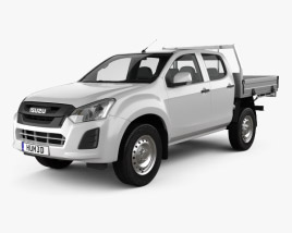 3D model of Isuzu D-Max Double Cab Alloy Tray SX 2017