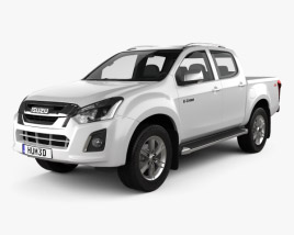 3D model of Isuzu D-Max Double Cab Ute LS 2017