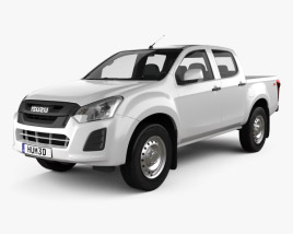 3D model of Isuzu D-Max Double Cab Ute SX 2017