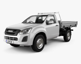 3D model of Isuzu D-Max Single Cab Alloy Tray SX 2017