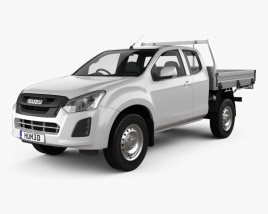 3D model of Isuzu D-Max Space Cab Alloy Tray SX 2017