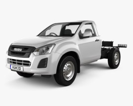 3D model of Isuzu D-Max Single Cab Chassis SX 2017