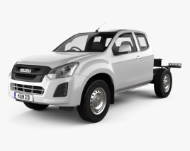 3D model of Isuzu D-Max Space Cab Chassis SX 2017