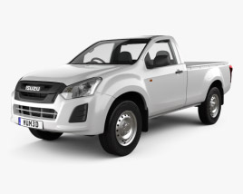 3D model of Isuzu D-Max Single Cab Ute SX 2017