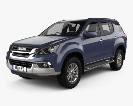 3D model of Isuzu MU-X 2017