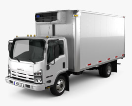3D model of Isuzu NRR Refrigerator Truck 2010