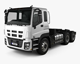 3D model of Isuzu Giga Max Tractor Truck 2010