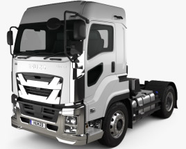 3D model of Isuzu Giga Tractor Truck 2-axle 2015