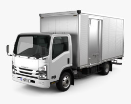3D model of Isuzu Elf Box Truck 2017