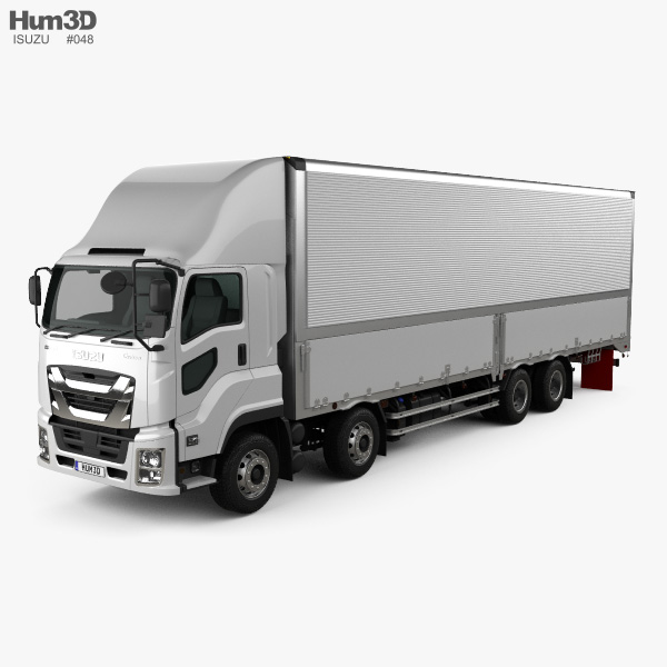 Isuzu Giga Box Truck 4-axle 2017 3D model