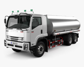 3D model of Isuzu FVM Tanker Truck 2017