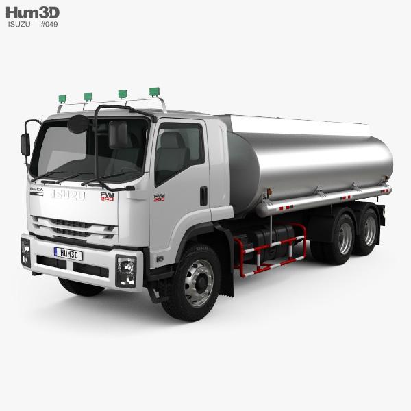 Isuzu FVM Tanker Truck 2017 3D model