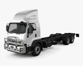 3D model of Isuzu FXY Chassis Truck 2017