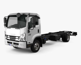 3D model of Isuzu Forward Chassis Truck 2017