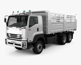 3D model of Isuzu FXZ 360 Flatbed Truck 2017