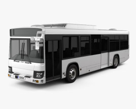3D model of Isuzu Erga Mio L2 Bus 2019