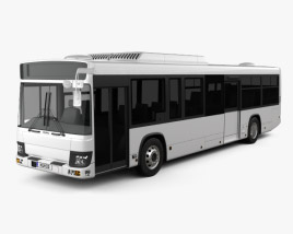 3D model of Isuzu Erga Mio L3 Bus 2019