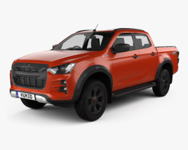 3D model of Isuzu D-Max Double Cab Vcross 4×4 2020