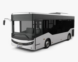 3D model of Isuzu Novociti Life Bus 2018
