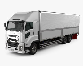 3D model of Isuzu Giga Box Truck 2015