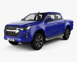 3D model of Isuzu D-Max Double Cab Hi-lander 2020