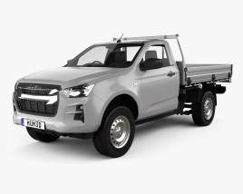 3D model of Isuzu D-Max Single Cab Alloy Tray SX 2020