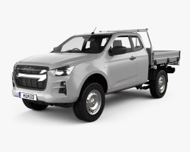 3D model of Isuzu D-Max Space Cab Alloy Tray SX 2020