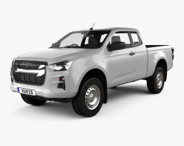 3D model of Isuzu D-Max Space Cab SX 2020