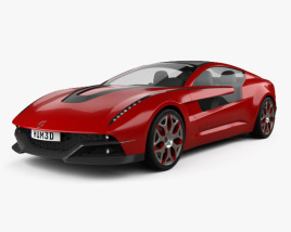 3D model of Italdesign Giugiaro Brivido 2012