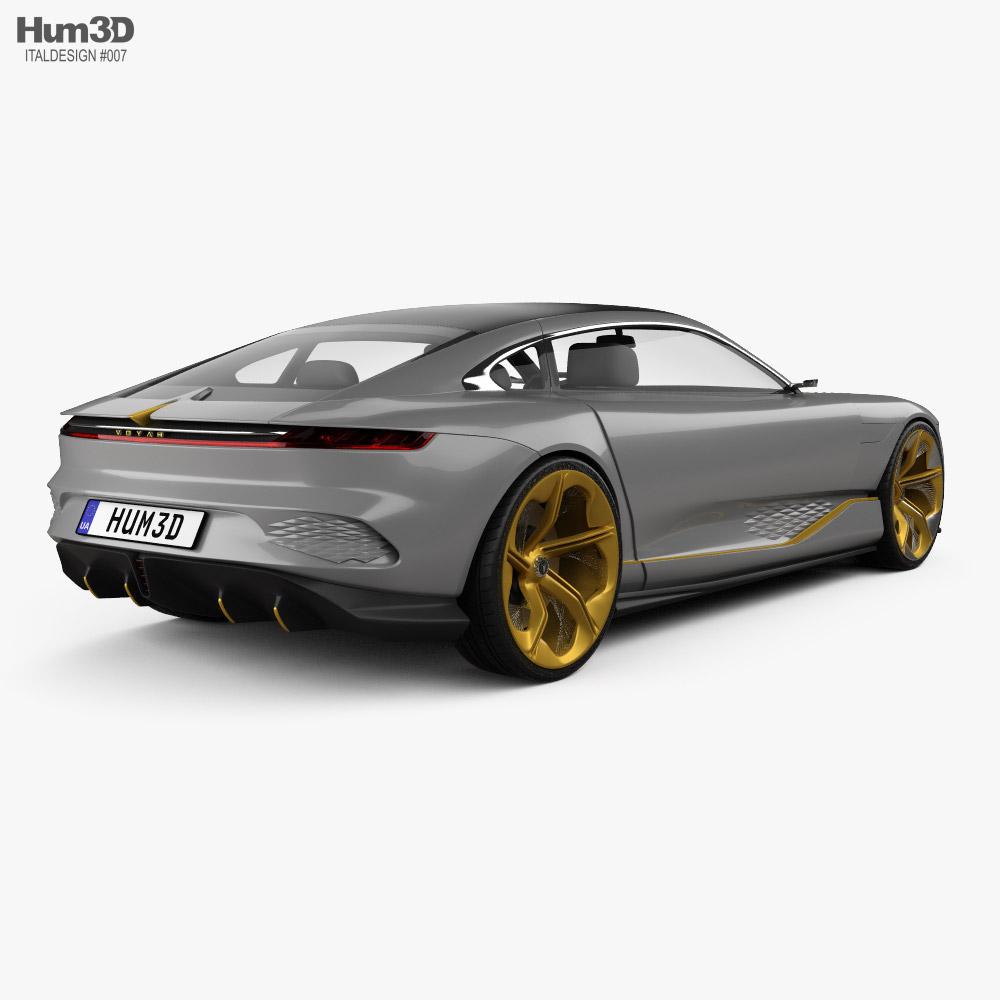 Italdesign Voyah i-Land 2021 3d model back view