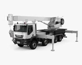 3D model of Iveco Trakker Crane Truck 2012