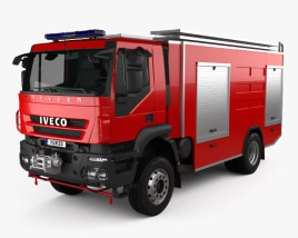 3D model of Iveco Trakker Fire Truck 2012