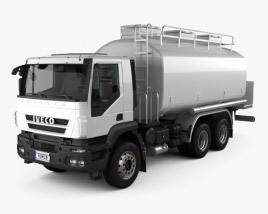 3D model of Iveco Trakker Fuel Tank Truck 2012