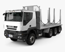 3D model of Iveco Trakker Log Truck 2012