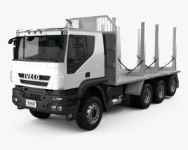 3D model of Iveco Trakker Log Truck 2012